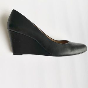 J. Crew leather wedge heels